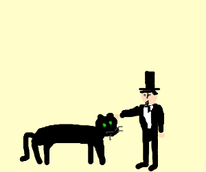 Abraham Lincoln pets his panther