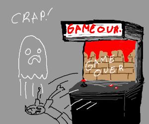 Die in arcade game - die in real life!