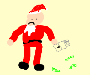 Santa Claws is out of gum