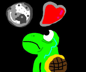 yoshi bonds with the penguin in the moon