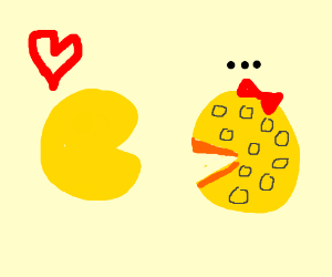 Pacman loves Ms Pacman even though shes cheese