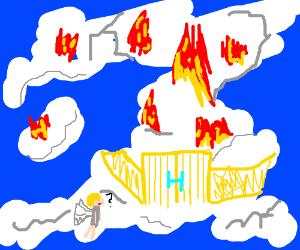heaven has caught fire