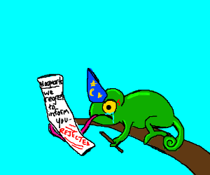 Lizard can't be a wizard