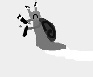 Snail breaking a magic wand
