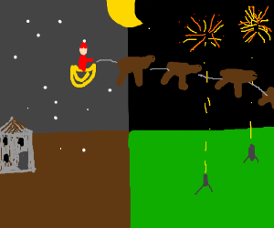 Christmas invades the 4th of July