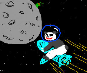 The first panda mission to the moon.