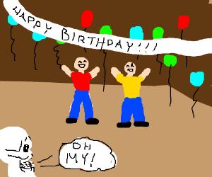 Skeleton surprise party!