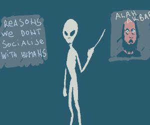 Aliens teach about racist humans