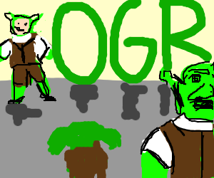 Yoda at Shrek-Con