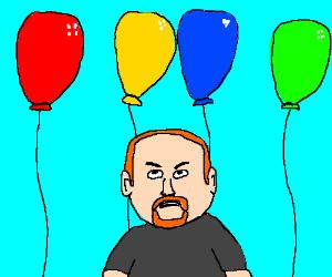 Louis C.K. hates balloons