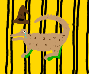 Alligator doomed to hufflepuff
