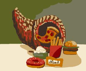 The junk food cornucopia.