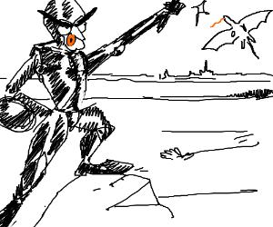 Knight gets ready to kill the sky dragon