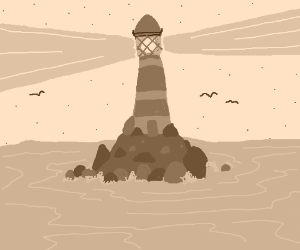 The Lighthouse on a small island
