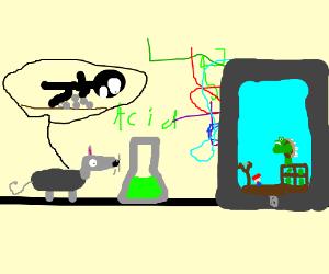 Mouse on acid plays Super Mario Birds