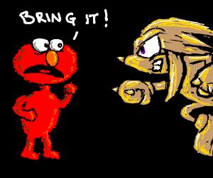 Elmo picks fight with brass knuckles