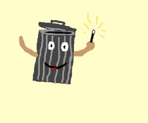 adorable magic trash can!