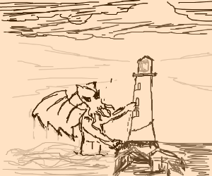 Oh no, the lighthouse!