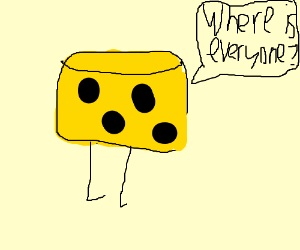 The cheese stands alone.