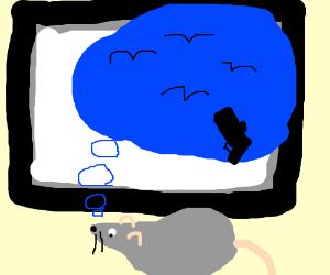 Rat dreams of attacking kids watching TV