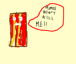 Bacon begs for his life