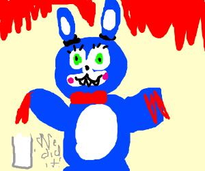 "blue bunny. lots of blood. ""we did it""-milk"