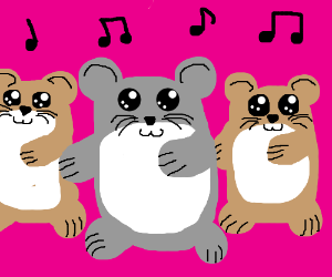 It's hampster dance time!