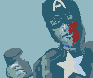 Captain America: yes, we eat cans!