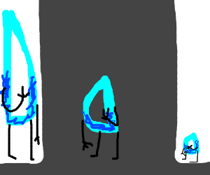 Drawception in a hall of mirrors