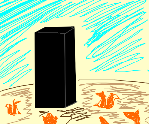 Foxes find the Monolith.