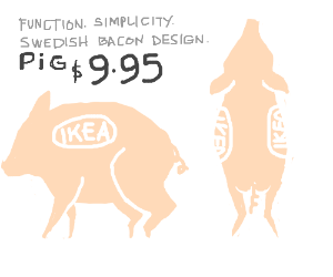 Ikea sells pigs for 9.95