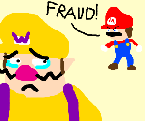 mario accuses wario of being a fraud