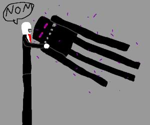 slenderman meets enderman