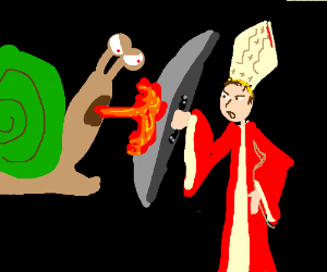 Fire-Breathing Snail vs. Cardinal Bishop
