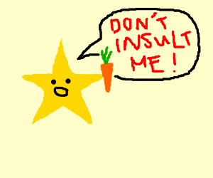 Don't insult a carrot-wielding star-being