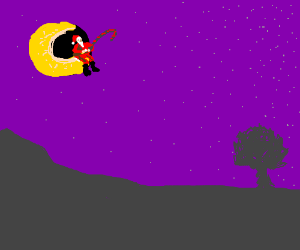 Santa is the man on the moon