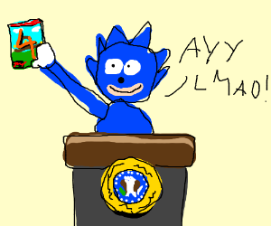 Sanic becomes president after Sonic 4 is out