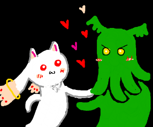 Kyubey and Cthulhu are BFFs