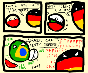 Polandball is actually BR. Germanyball is mad.