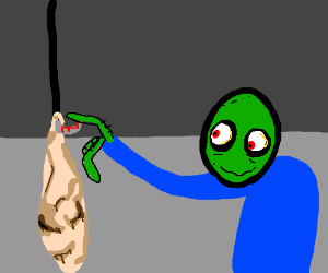 The happiest day of Salad fingers life