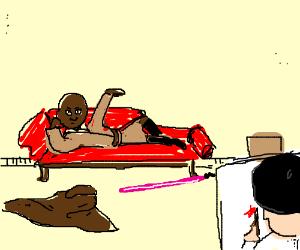 Mace Windu drawn like one of your French girls