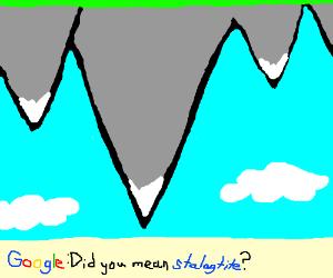 Upside-down mountain range