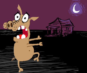 Courage the Cowardly Hog.