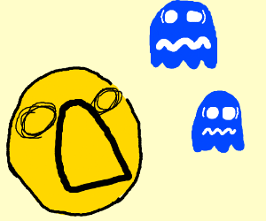 Scared smiley face scares ghosts