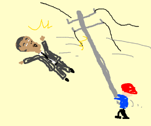 Obama gets violated with a telephone pole