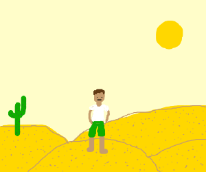 Guy in the desert