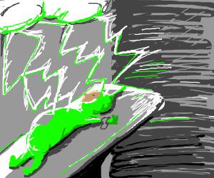Frankenstein creates a zombie teletubby