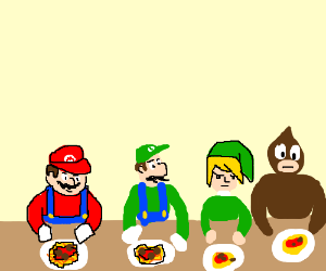 Nintendo Characters Sit Down For A Nice Dinner