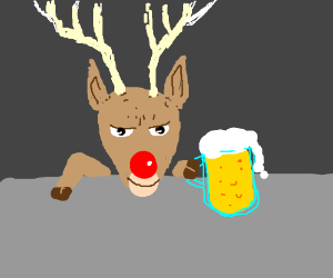 Rudolph S Red Nosed Reindeer Is Drunk Drawception