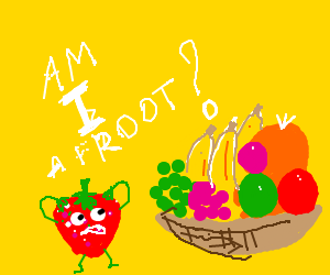strawberry cannot believe it is a froot